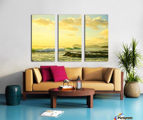 Perfect Day - Sunset Hawaiian Islands Split Canvas print