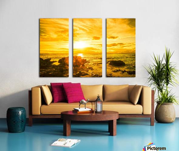 Majestic Sunset - Hawaiian Islands Split Canvas print