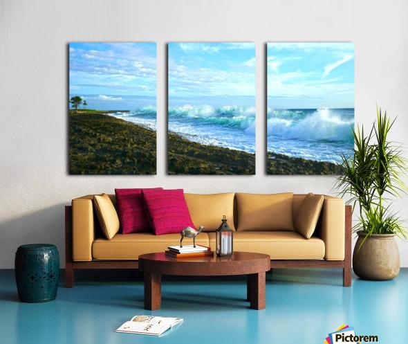 Blue Day Panorama Split Canvas print