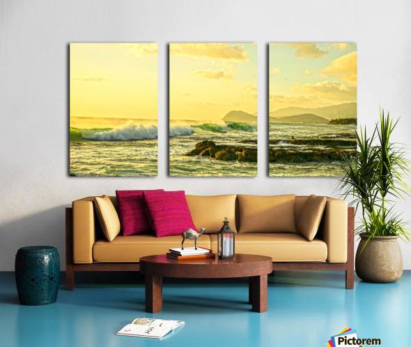 Perfect Day Panorama - Sunset Hawaiian Islands Split Canvas print