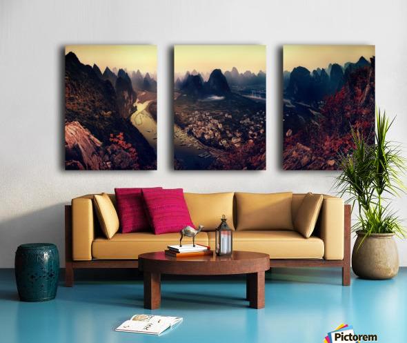 The Karst Mountains of Guangxi Split Canvas print