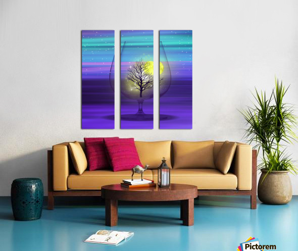Landscape in a glass. Split Canvas print