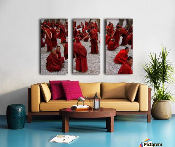Monks debating Split Canvas print