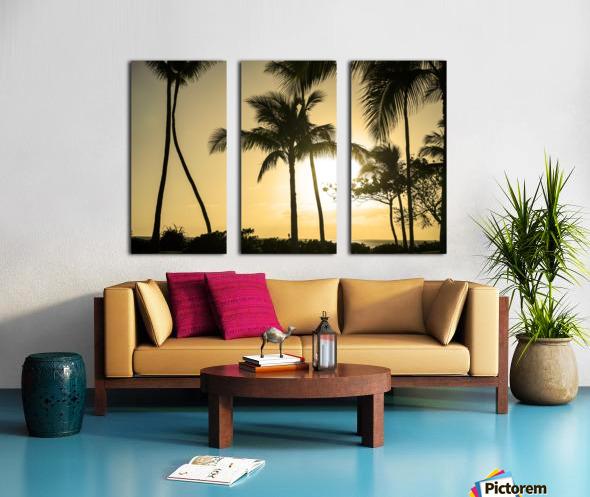 Through the Palms Split Canvas print