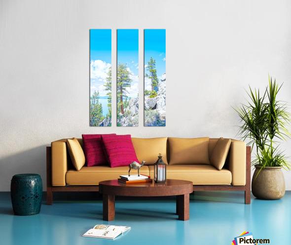 Top of the Mountain California  Split Canvas print