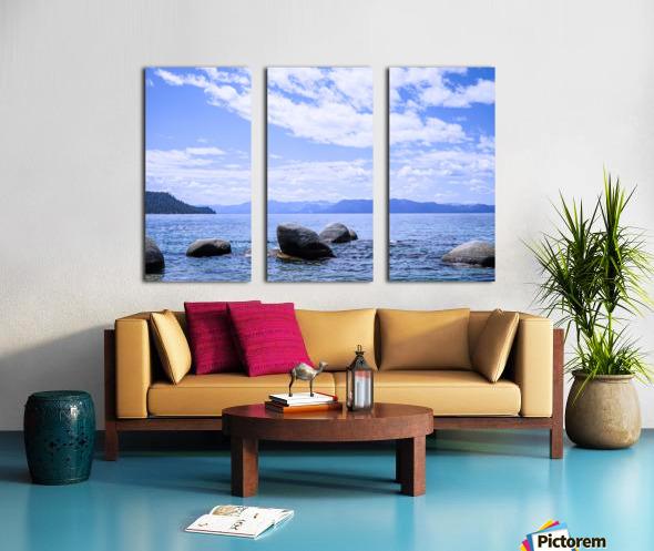 Perfect Day at the Lake - California Split Canvas print
