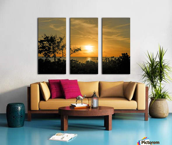 Delicate - Sunset Hawaiian Islands Split Canvas print