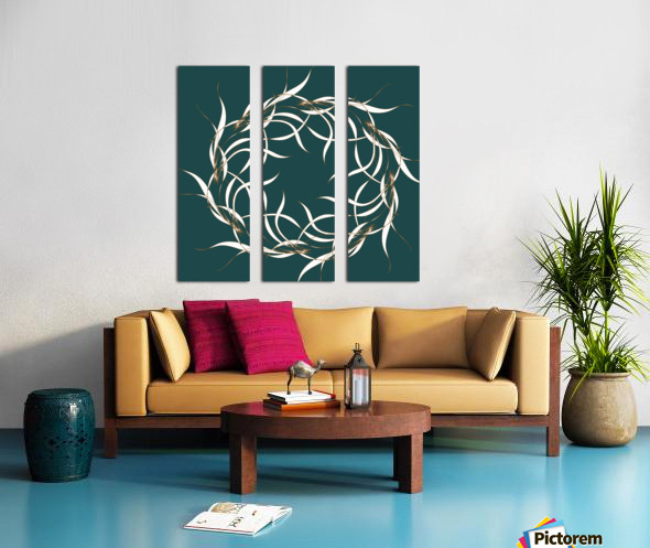 wintermandala Split Canvas print