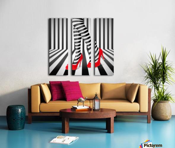 Red Shoes Split Canvas print