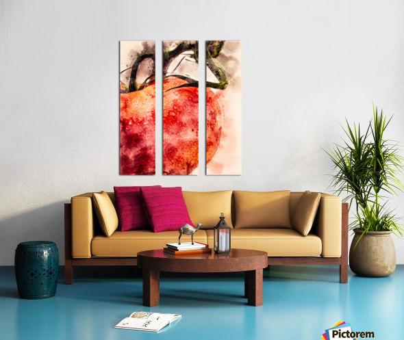 Tomato Split Canvas print