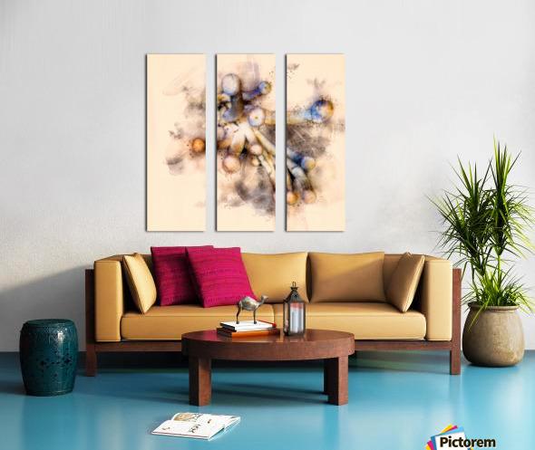 Tasty Mushroom Abstract Split Canvas print