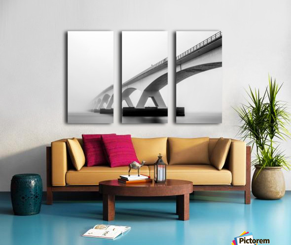 Shades of Grey Split Canvas print