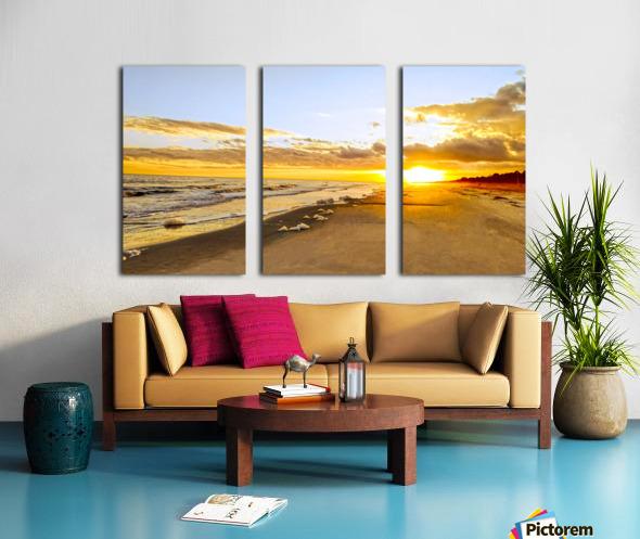 The Summer Sun Sets in the Carolinas Split Canvas print