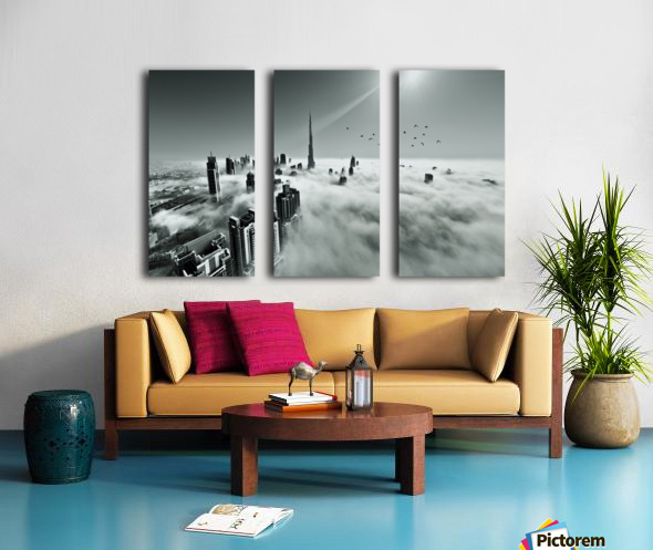 Up up and Above Split Canvas print