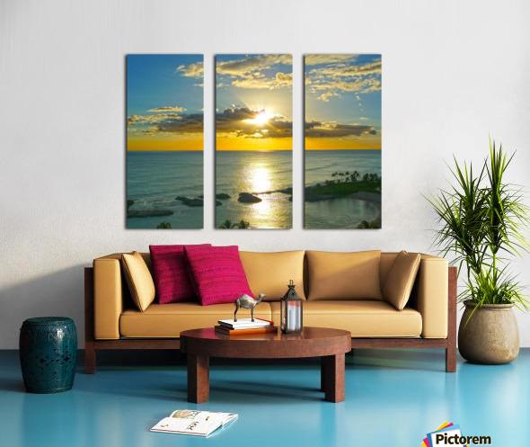 Island Dreamin - Hawaii Sunset Split Canvas print