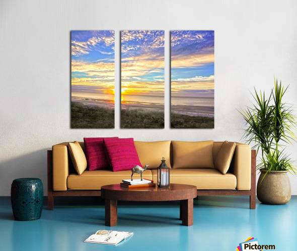 Carolina Sunrise Split Canvas print