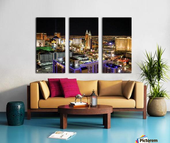 Las Vegas at Night Split Canvas print