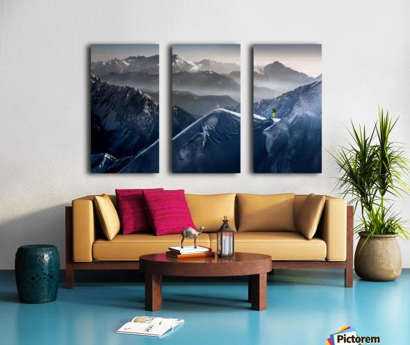 Silent Moments before Descent Split Canvas print