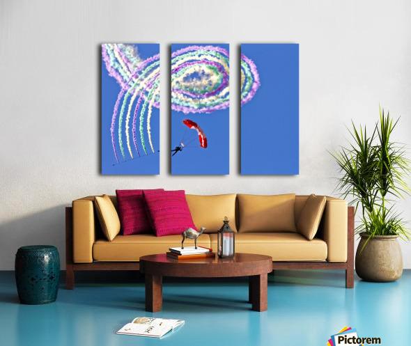Spiro Split Canvas print