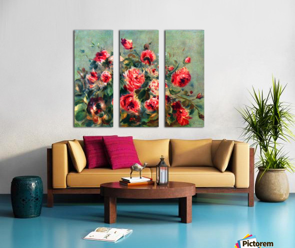 Still life roses of Vargemont Split Canvas print