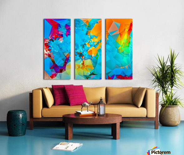 Berry Lush Blooms Split Canvas print