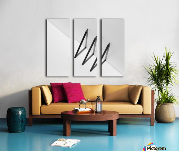 Triangles by Jacqueline Hammer  Split Canvas print