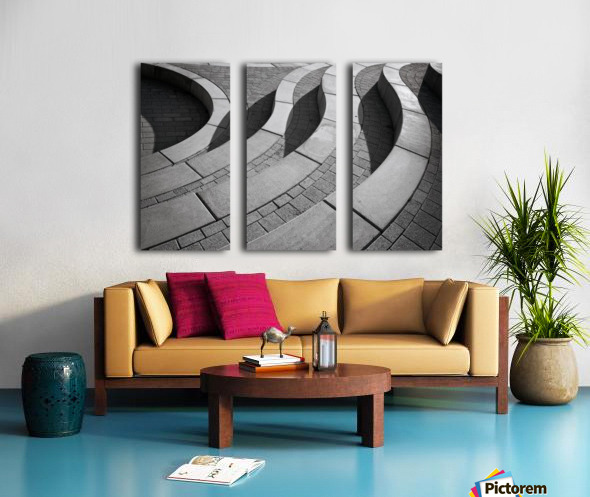 Curves Split Canvas print
