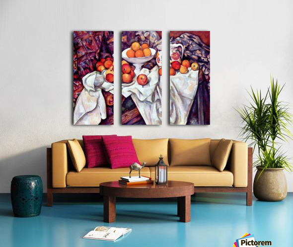 Still Life with Apples and Oranges by Cezanne Split Canvas print