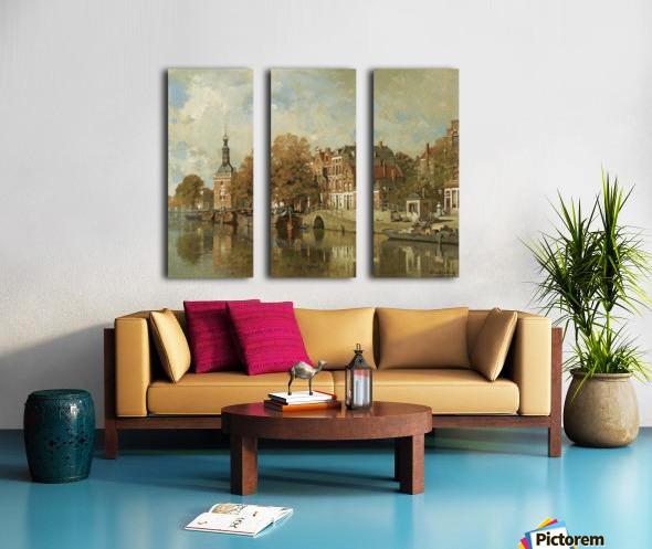 The verdronken oord with the Accijnstoren, Alkmaar Split Canvas print