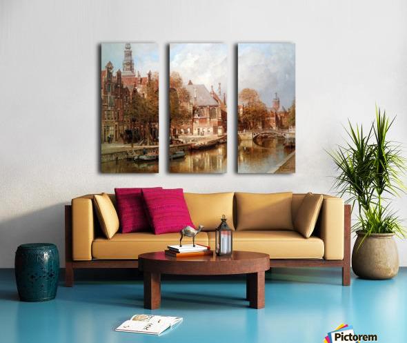 The Oude Kerk and Saint Nicolaaskerk Split Canvas print