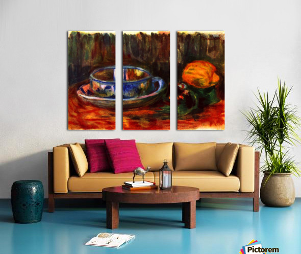 Still life with cup Split Canvas print