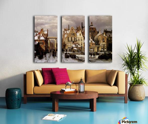 Winter City View Split Canvas print