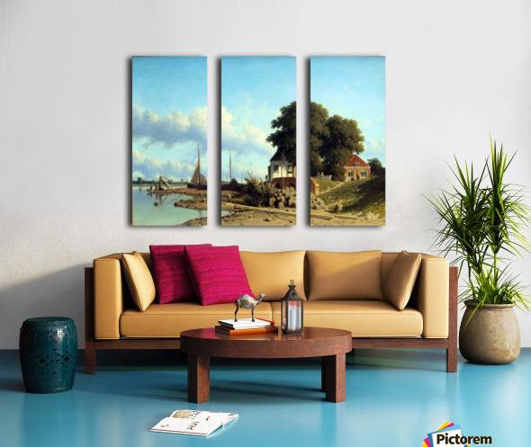 Aan de Lek bij Elshout Split Canvas print