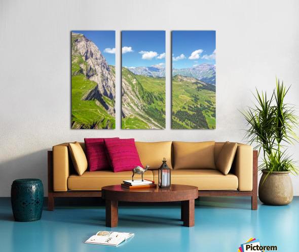 Deep in the Swiss Highlands Split Canvas print