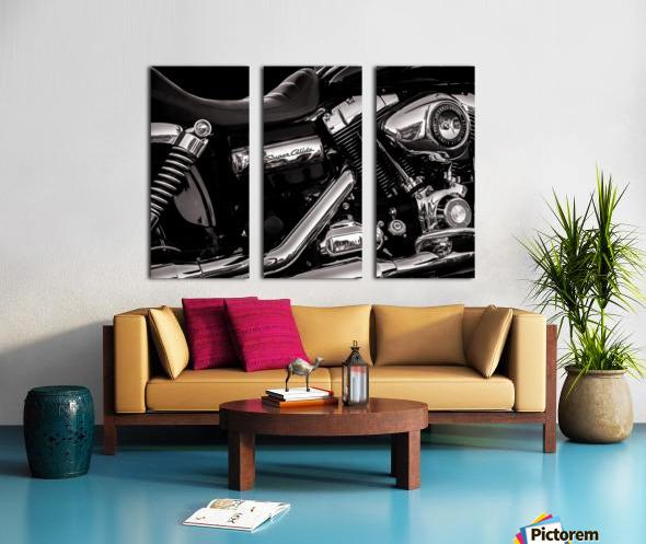 Motorcycle Number 1 Split Canvas print