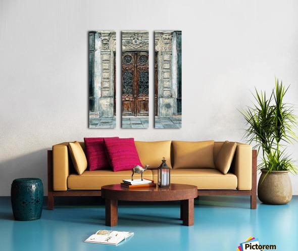 Parisian Door N0. 5-3 Split Canvas print