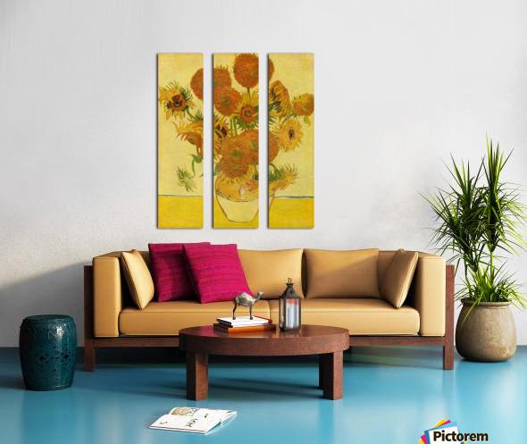 Still life with sunflowers by Van Gogh Split Canvas print