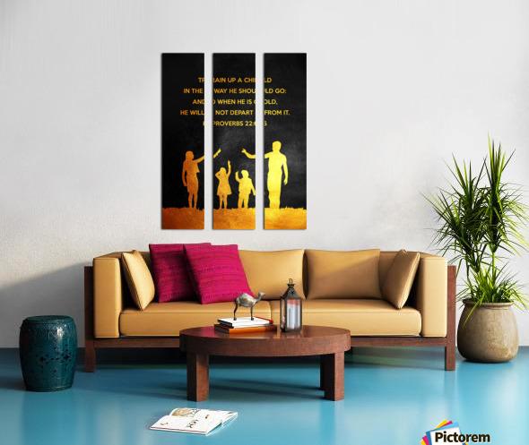 Proverbs 22:6 Bible Verse Wall Art Split Canvas print