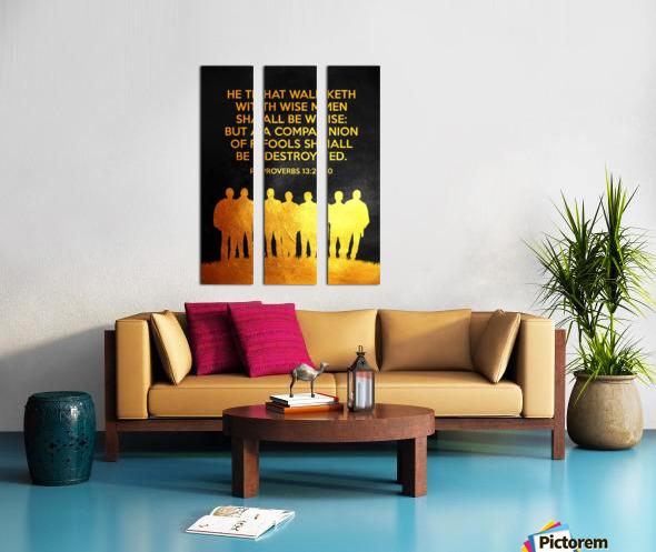 Proverbs 13:20 Bible Verse Wall Art Split Canvas print