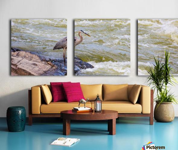 Great Blue Heron ap 2014 Toile Multi-Panneaux