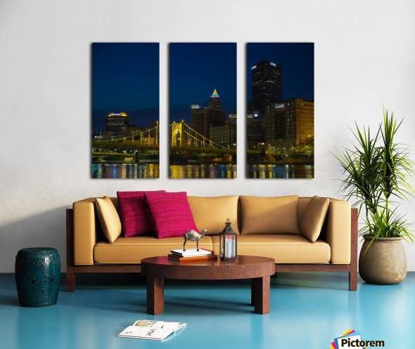 Roberto Clemente Bridge ap 2870 Split Canvas print