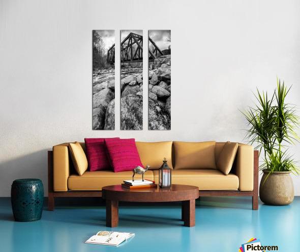 Train Bridge ap 2225 B&W Split Canvas print