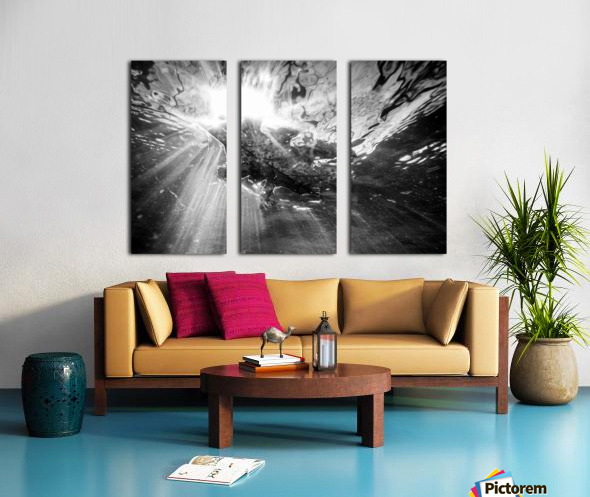 Sunlight ap 2048 B&W Split Canvas print