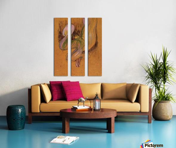 Study for Loie Fuller by Toulouse-Lautrec Split Canvas print