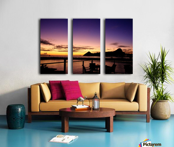 Sunset at The Landings Split Canvas print