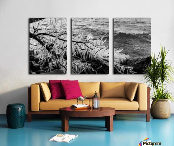 Splash Icicles ap 2147 B&W Split Canvas print