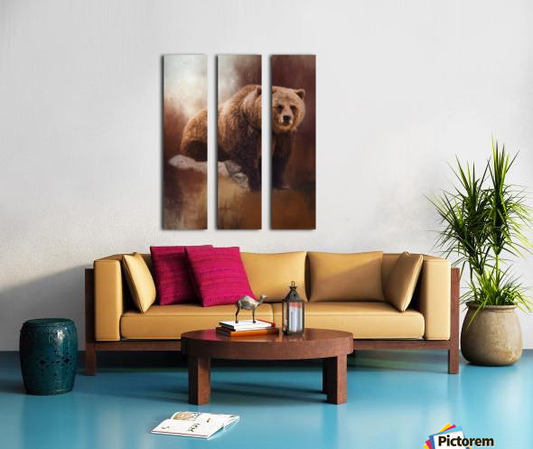 Great Strength - Grizzly Bear Art by Jordan Blackstone Split Canvas print