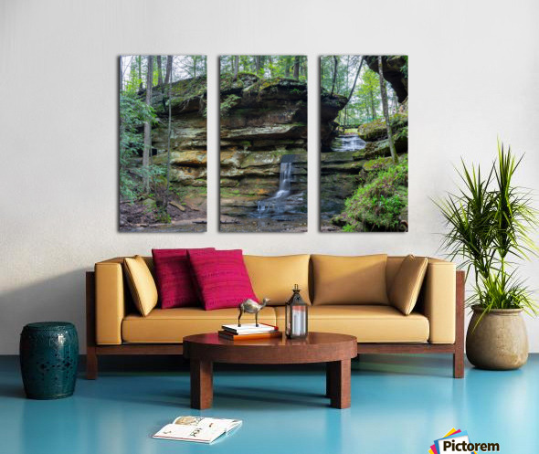Lodge Falls apmi 1649 Split Canvas print