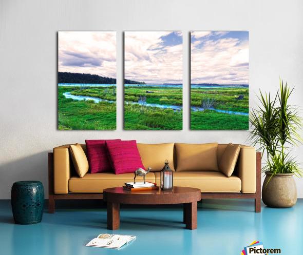 The Estuary in Fall Split Canvas print