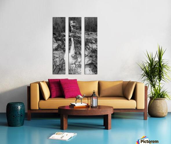Silver Cascade Falls ap 2226 B&W Split Canvas print